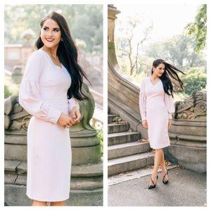 NWT RACHEL PARCELL Madison Avenue Pink Midi Dress